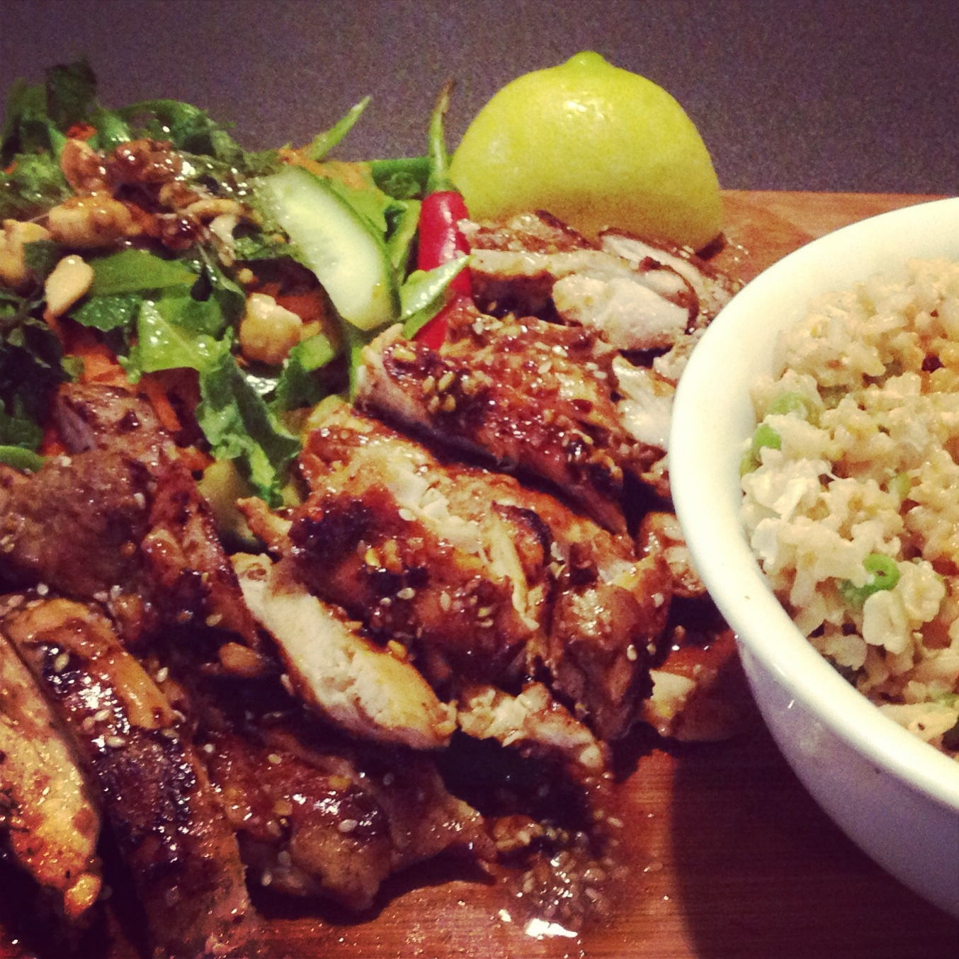 Sticky kickin chicken and crunchy asian salad jamie oliver style kickin chicken 2 forumfinder Choice Image
