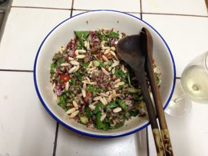 quinoa + red rice salad